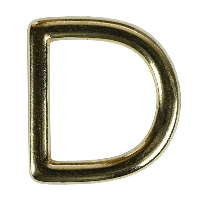 1 Inch Solid Brass D-Ring