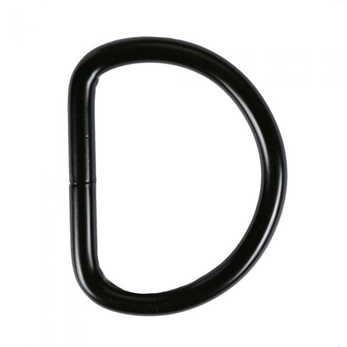 2 Inch Black Plated Metal D-Ring
