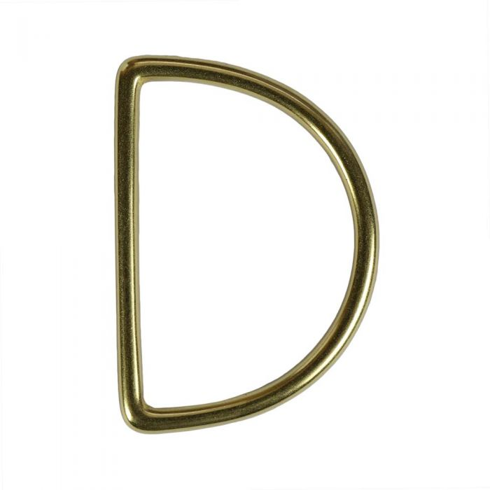 2 Inch Solid Brass D-Ring