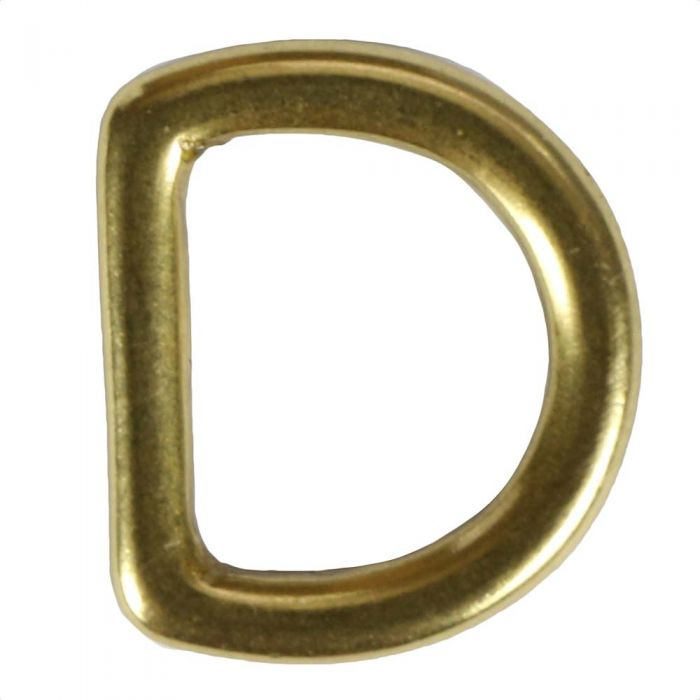 1/2 Inch Solid Brass D-Ring
