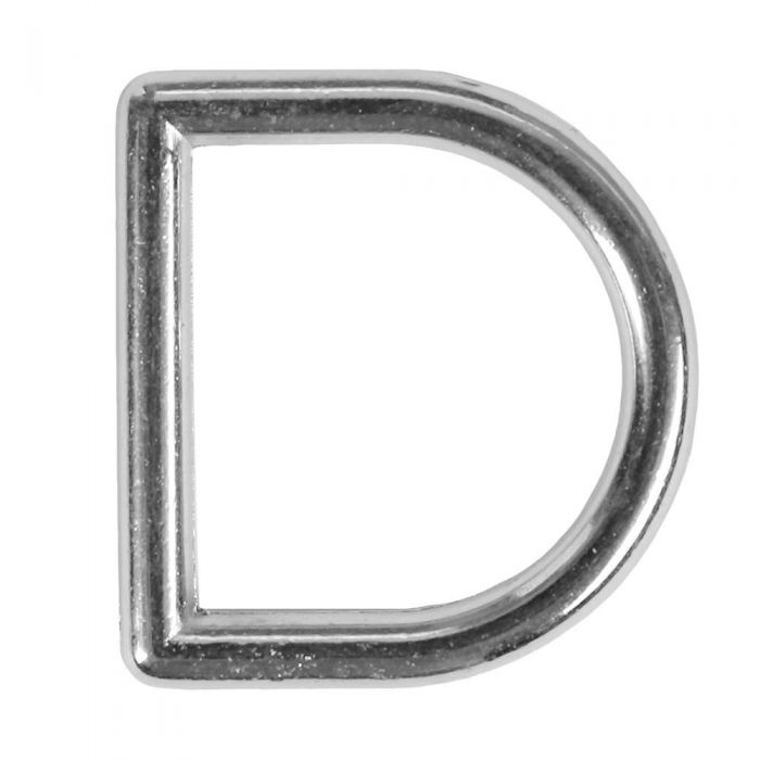3/4 Inch Squared Metal D-Ring