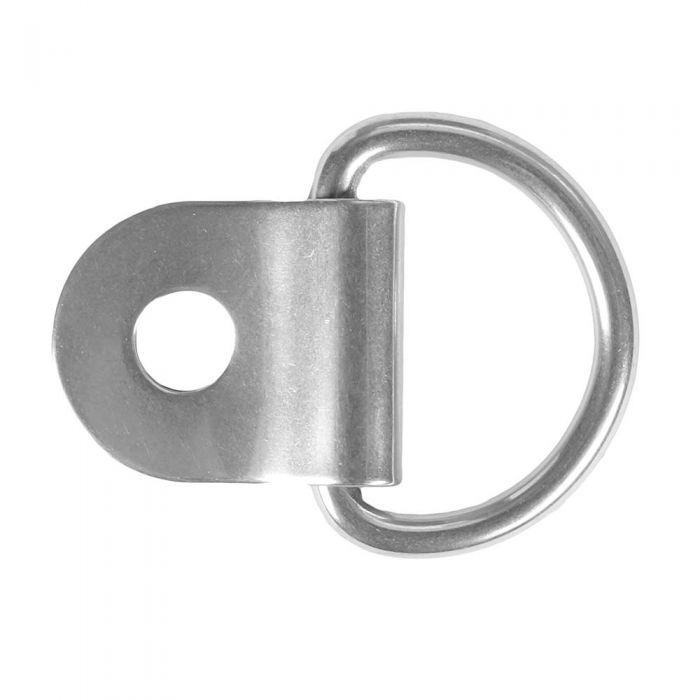 3/4 Inch Stainless Steel D-Ring with Clip