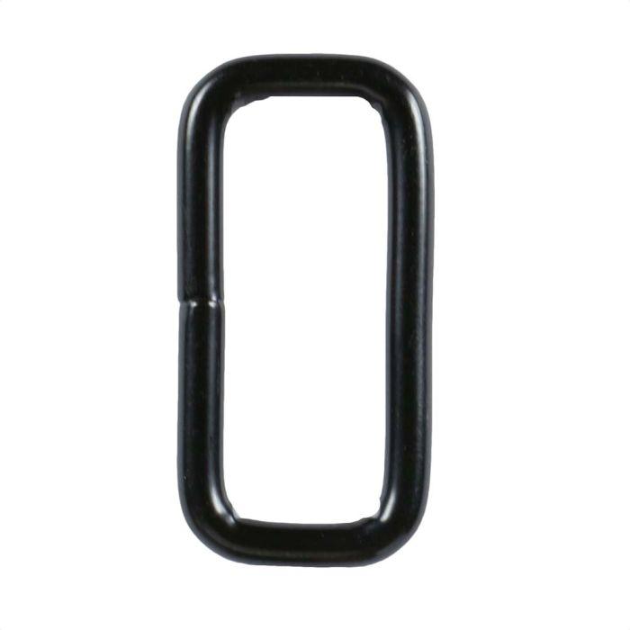 1 Inch Squared Black Plated Metal Loop