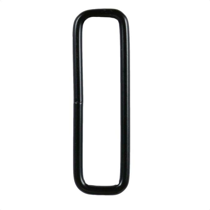 2 Inch Squared Black Plated Metal Loop