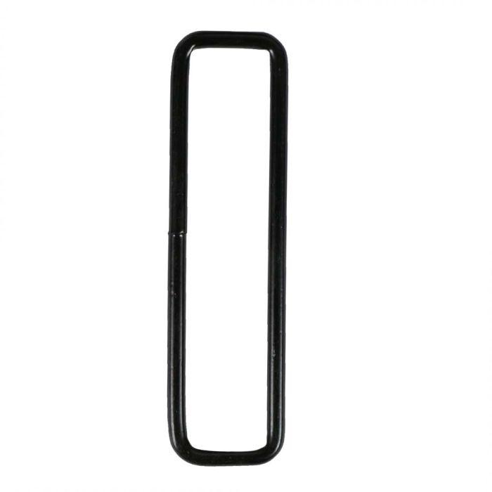 3 Inch Squared Black Plated Metal Loop