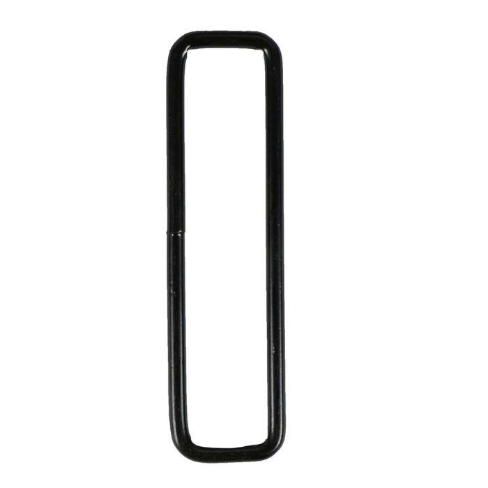 3/4 Inch Squared Black Plated Metal Loop