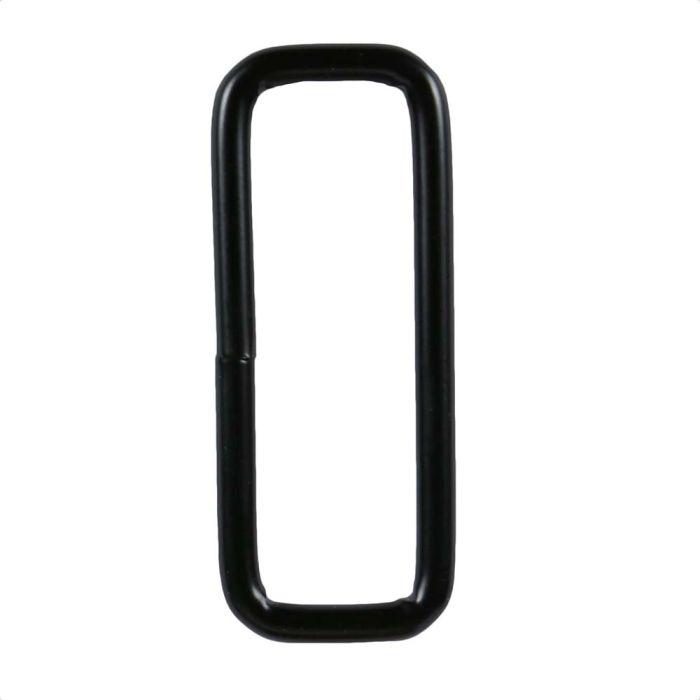 1 1/2 Inch Squared Black Plated Metal Loop
