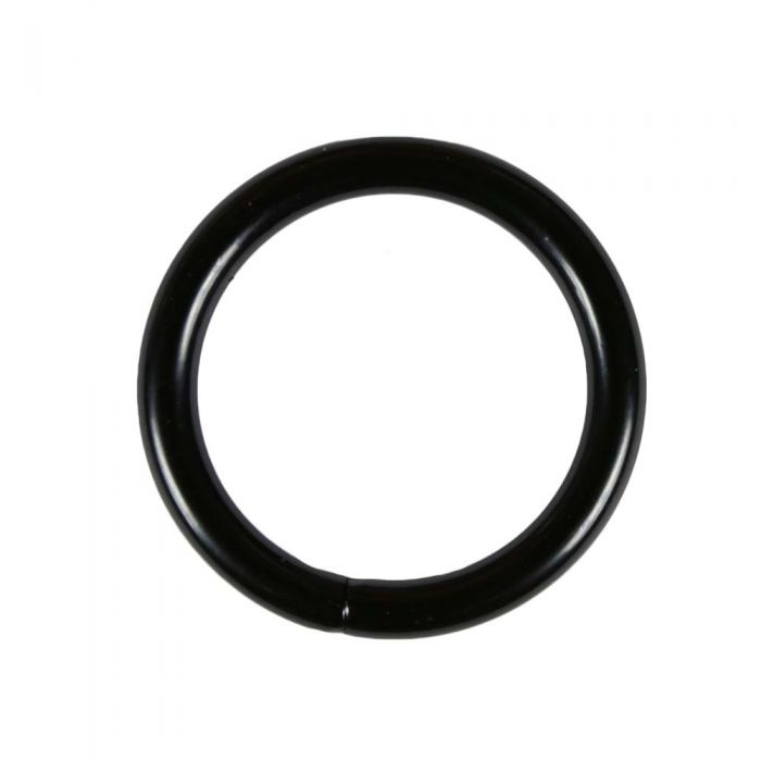 1 1/2 Inch Black Plated Metal O-Ring
