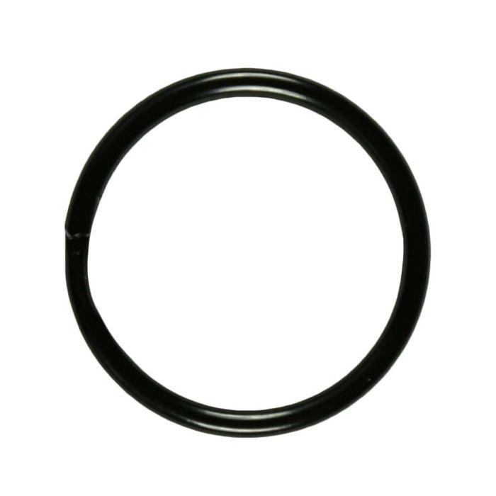 1 Inch Shiny Black Plated Metal Split O-Ring