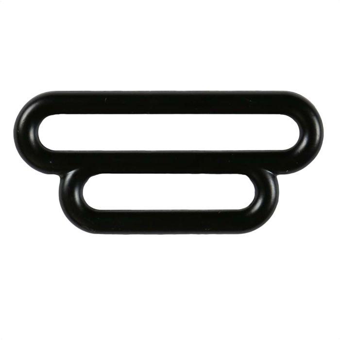 1 1/2 Inch to 1 Inch Black Plated Metal Reducing Loop