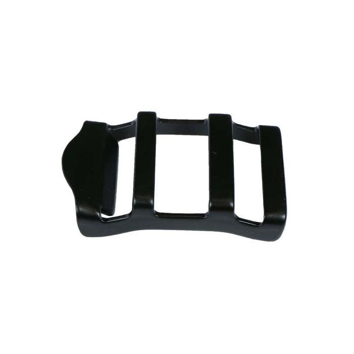 1 Inch Contoured Black Plated Metal Strap Adjuster: Gloss Black