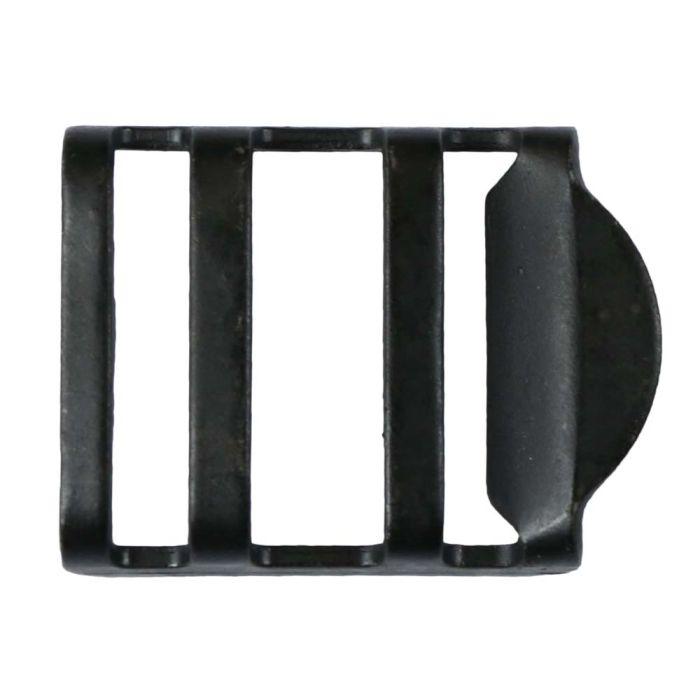 1 Inch Black Plated Metal Strap Adjuster: Matte Black