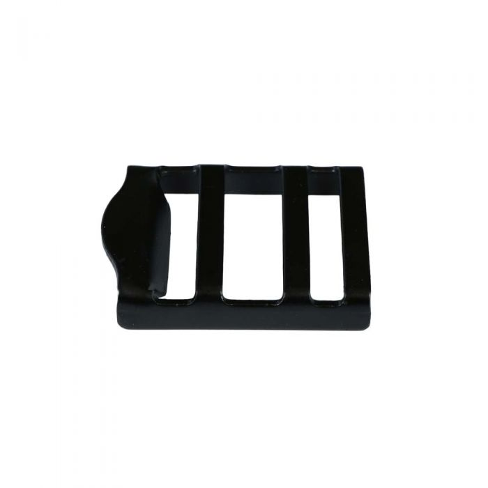 1 Inch Black Plated Metal Strap Adjuster: Gloss Black