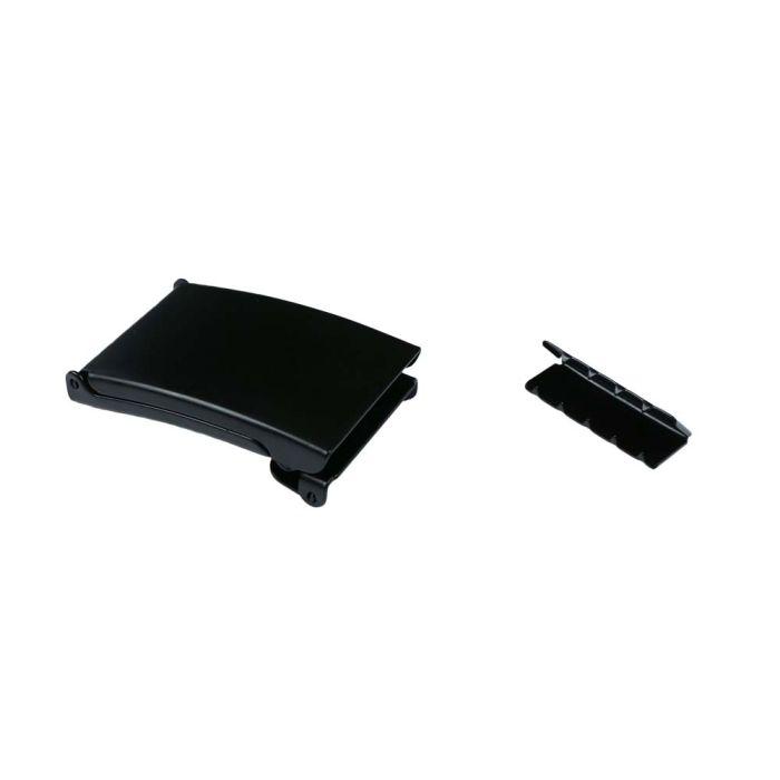 1 1/2 Inch Flip Top Black Plated Metal Military Buckle
