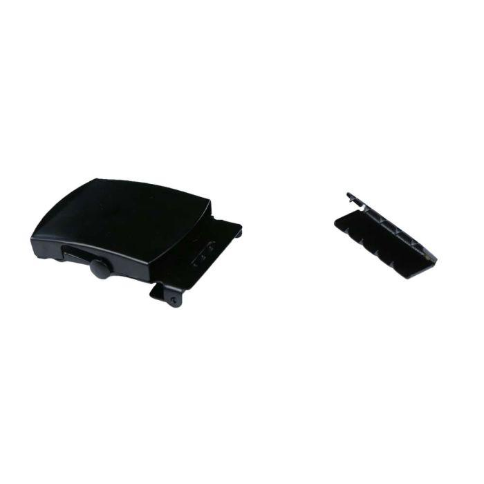 1 1/2 Inch Slide Lock Black Plated Metal Military Buckle