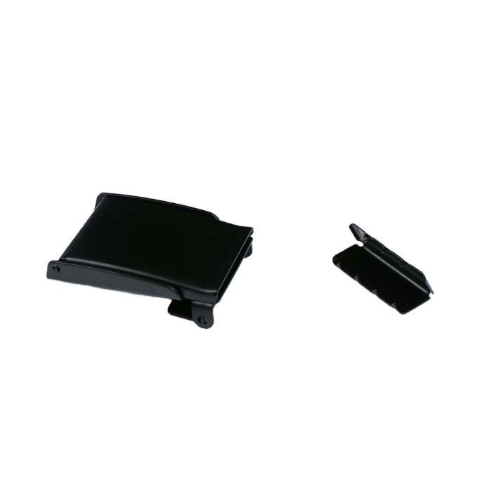 1 1/4 Flip Top Black Plated Metal Military Buckle