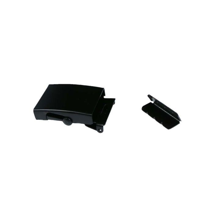 1 1/4 Slide Lock Black Plated Metal Military Buckle