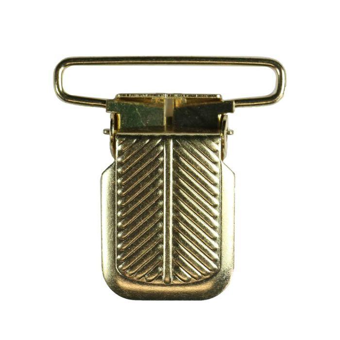 1 1/2 Inch Herring Bone Metal Suspender Clip