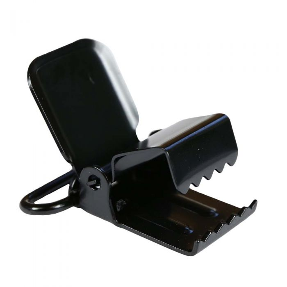 1 1/2 Inch Industrial Black Plated Metal Suspender Clip