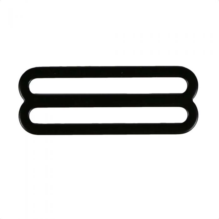 2 Inch Flat Black Plated Metal 3-Bar Slide