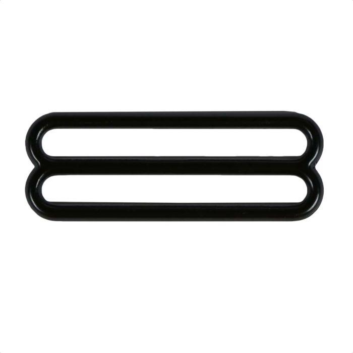 2 Inch Round Black Plated Metal 3-Bar Slide