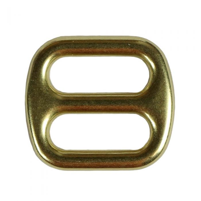 3/4 Inch Cast Flat Solid Brass 3-Bar Slide