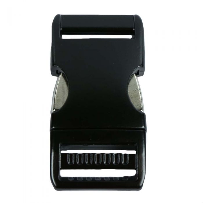 1 Inch Anodized Aluminum Side Release Buckle Gloss Black