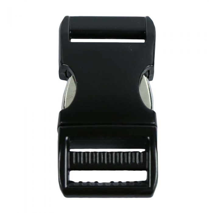 3/4 Inch Anodized Aluminum Side Release Buckle Gloss Black