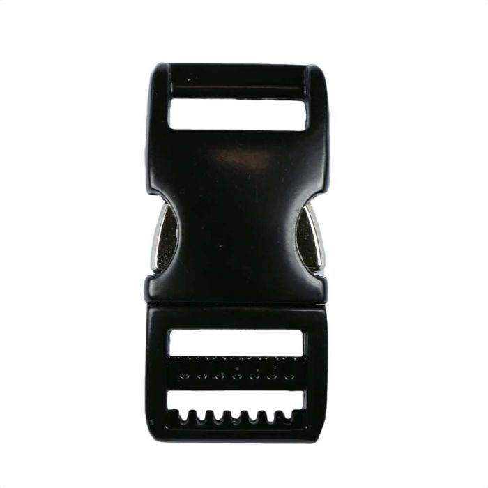 5/8 Inch Anodized Aluminum Side Release Buckle Gloss Black