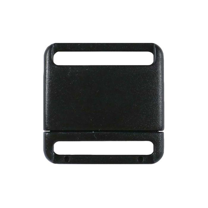 3/4 Inch Plastic No Adjust Breakaway Buckles, Rounded - Black