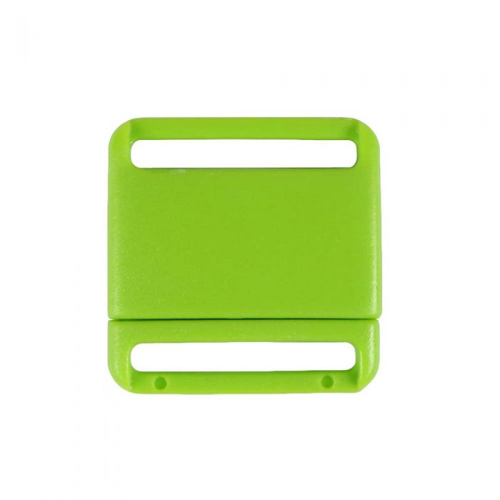 3/4 Inch Plastic No Adjust Breakaway Buckles, Rounded - Lime Green