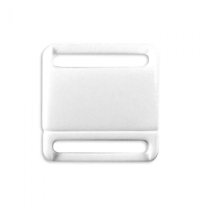 3/4 Inch Plastic No Adjust Breakaway Buckles, Rounded - White