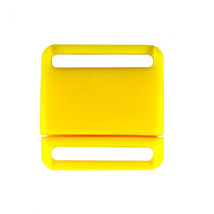 3/4 Inch Plastic No Adjust Breakaway Buckles, Rounded - Yellow