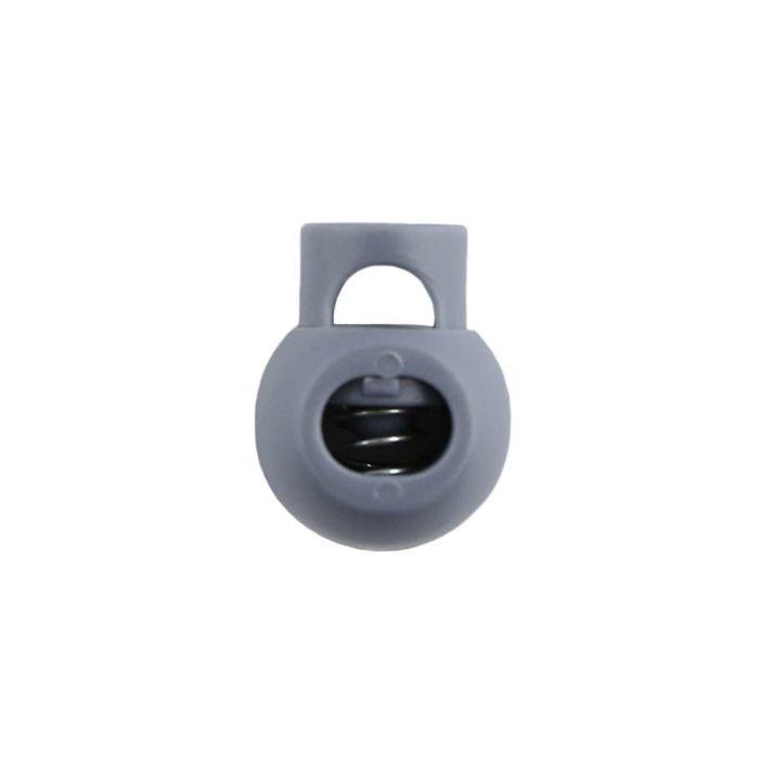 Gray Ball Style Plastic Cord Lock