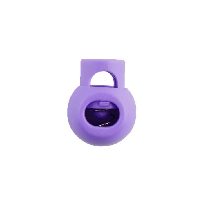 Lilac Ball Style Plastic Cord Lock