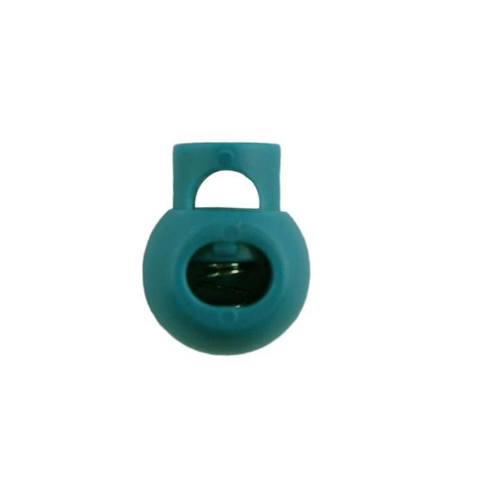 Teal Ball Style Plastic Cord Lock