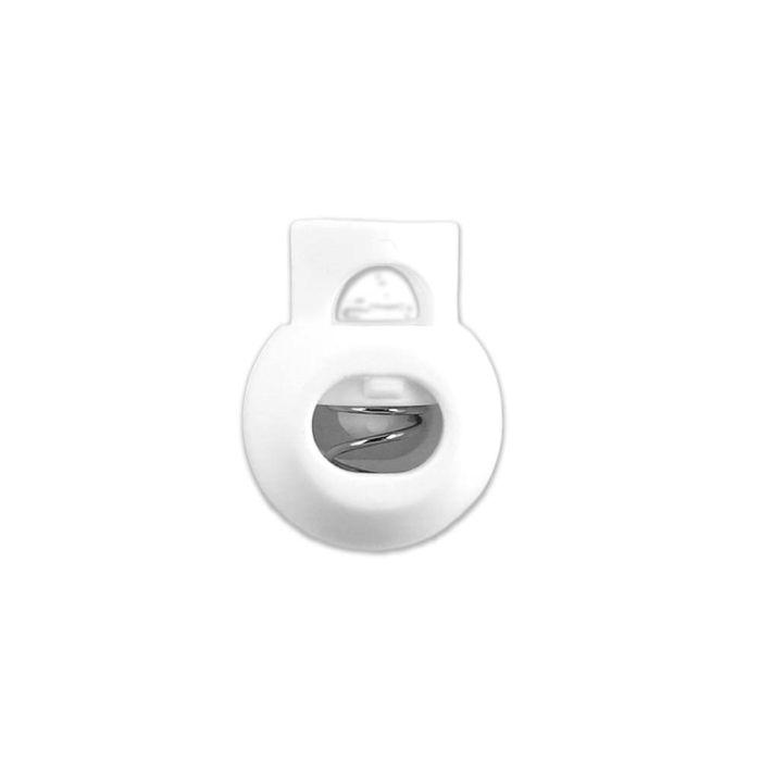 White Ball Style Plastic Cord Lock