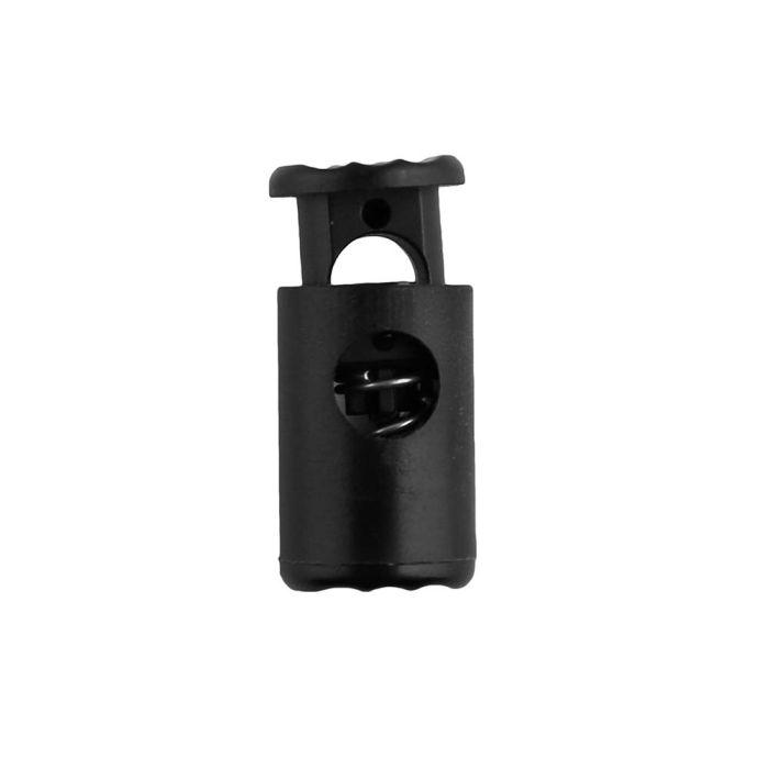Black Barrel Style Plastic Cord Lock
