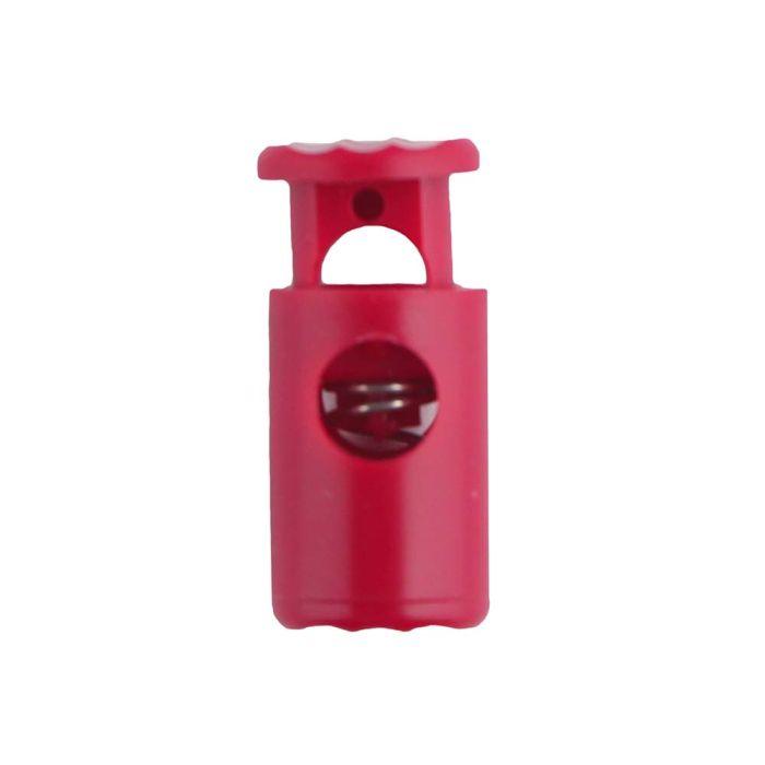 Fuchsia Barrel Style Plastic Cord Lock