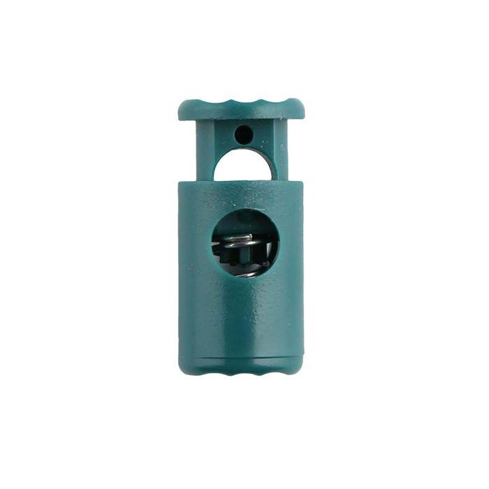 Green Barrel Style Plastic Cord Lock