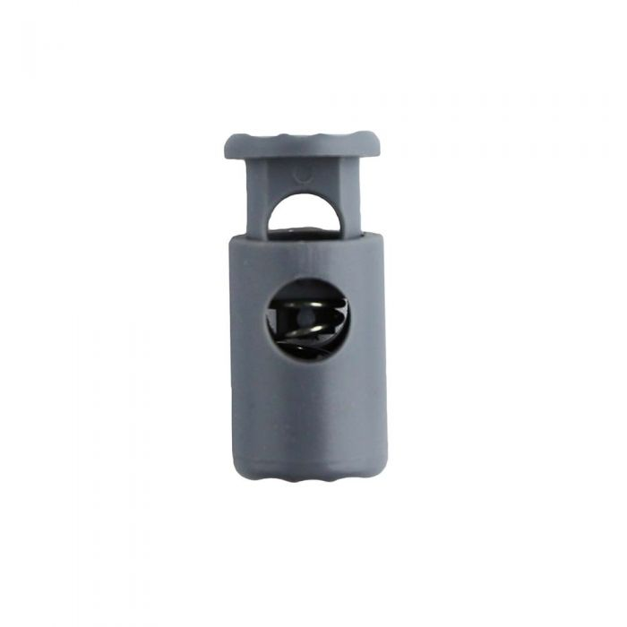 Gray Barrel Style Plastic Cord Lock