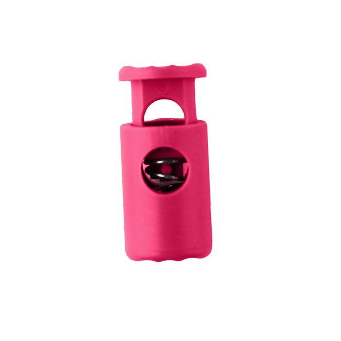 Hot Pink Barrel Style Plastic Cord Lock
