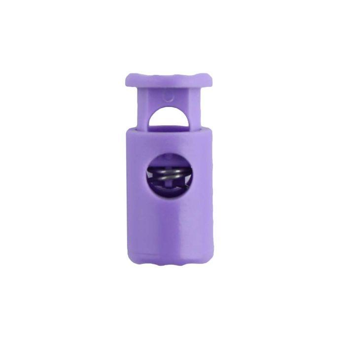 Lilac Barrel Style Plastic Cord Lock