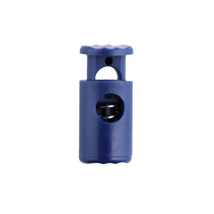 Navy Blue Barrel Style Plastic Cord Lock