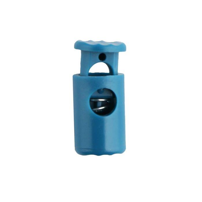 Teal Barrel Style Plastic Cord Lock