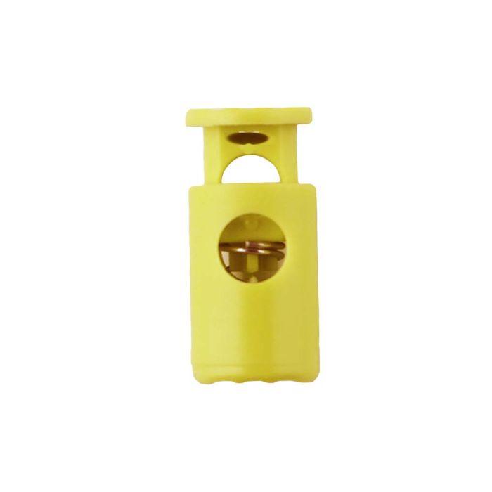 Yellow Barrel Style Plastic Cord Lock