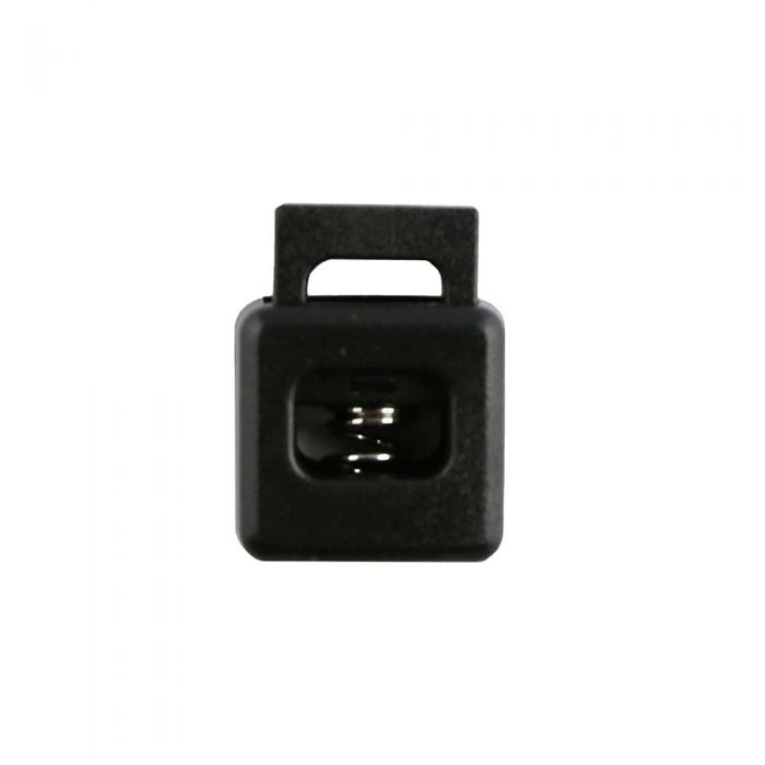 Black Block Style Plastic Cord Lock