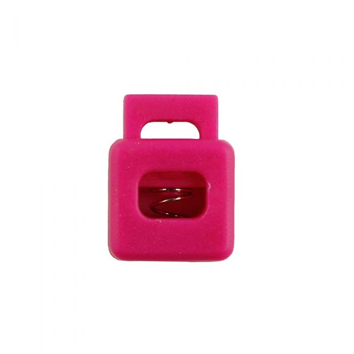 Fuchsia Block Style Plastic Cord Lock