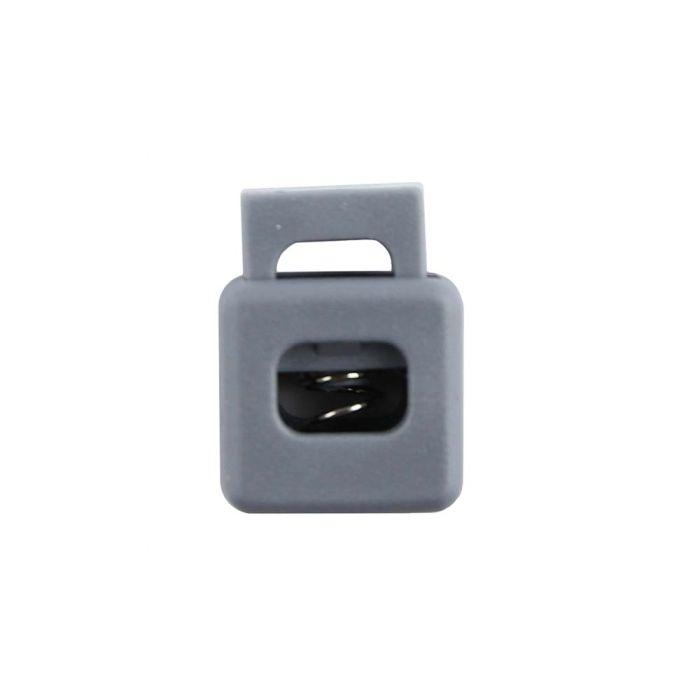 Gray Block Style Plastic Cord Lock