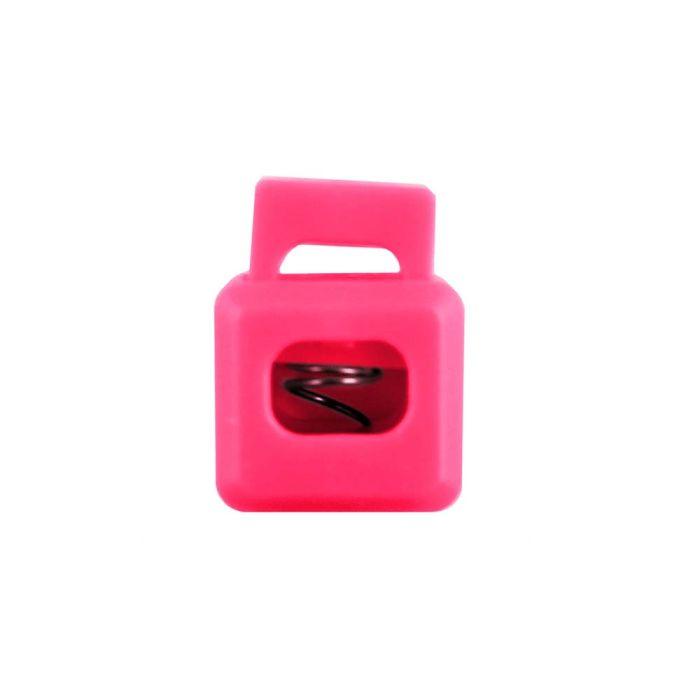 Hot Pink Block Style Plastic Cord Lock